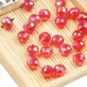 Beads, Selenial Crystal, Crystal, Burgandy AB, Faceted Discs, 8mm x 8mm x 6mm, 10 Beads, [ZZC102]
